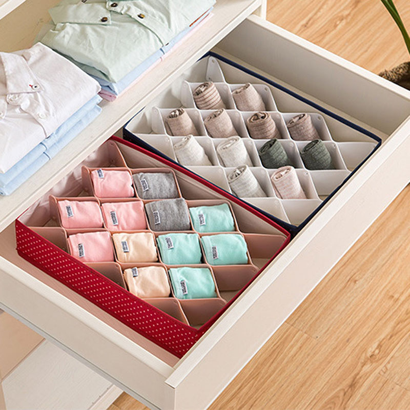 Plastic Underwear Socks Storage Box Diamond Drawer Divider Plate Multifunction Closet Organizer Boxes Separadores Para Cajones