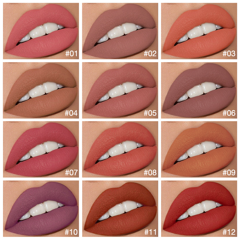 O.TWO.O Liquid Lipstick Matte Lip Gloss Cosmetic Lightweight Lip Glaze Long Lasting Lip Tint  Waterproof 12 Color Lips Makeup 2