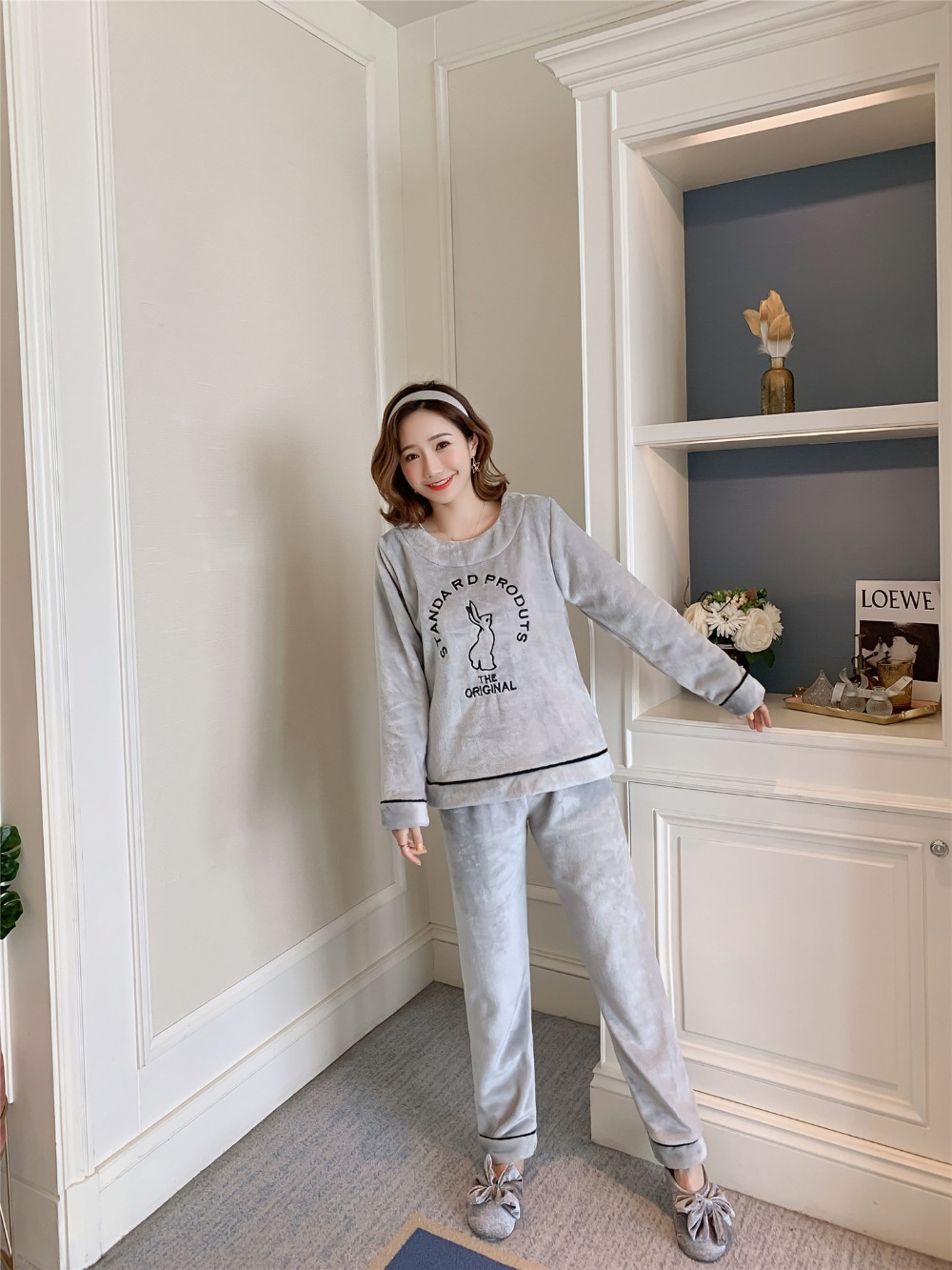 Betyline 2019 New Winter Pajamas For Women Sleepwear Warm Flannel Long Sleeves Pajamas Cute Animal Homewear Thick Homewear 168