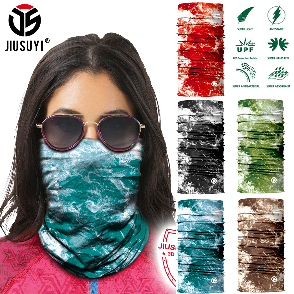 Men Women Sunscreen Breathable Face Soft Magic Tube Bandana Scarf Neck Gaiter Cover Fishing Cycling Running Headband