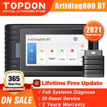 TOPDON ArtiDiag800 BT Bluetooth Scanner All System Car Diagnostic Tool Automotive Auto Scan Tools 28 Reset Functions PK MK808BT