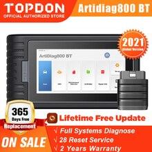 TOPDON ArtiDiag800 BT เครื่องสแกนเนอร์บลูทูธระบบทั้งหมดเครื่องมือวินิจฉัยรถยนต์ยานยนต์ Auto Scan เครื่องมือ28ฟังก์ชั่นรีเซ็ต PK MK808BT