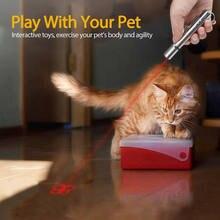 Brinquedos de gato led ponteiro laser animal estimação brinquedo interativo multifuncional carregamento usb ponto vermelho led luz gato teaser caneta nova moda 2021