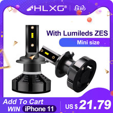 HLXG Car-Headlight-Bulbs Hb4-Lamp Zes-Chips 5000K Lumileds H7 Led H11 Hb3 9005 12v 12000lm
