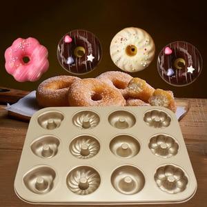 Image 1 - Baking Pastry Tool Carbon Steel Donut Mold Doughnut Mold  Baking Pan Baking Tray Chocolate Cake Mold Kitchen Bakeware DIY Tools