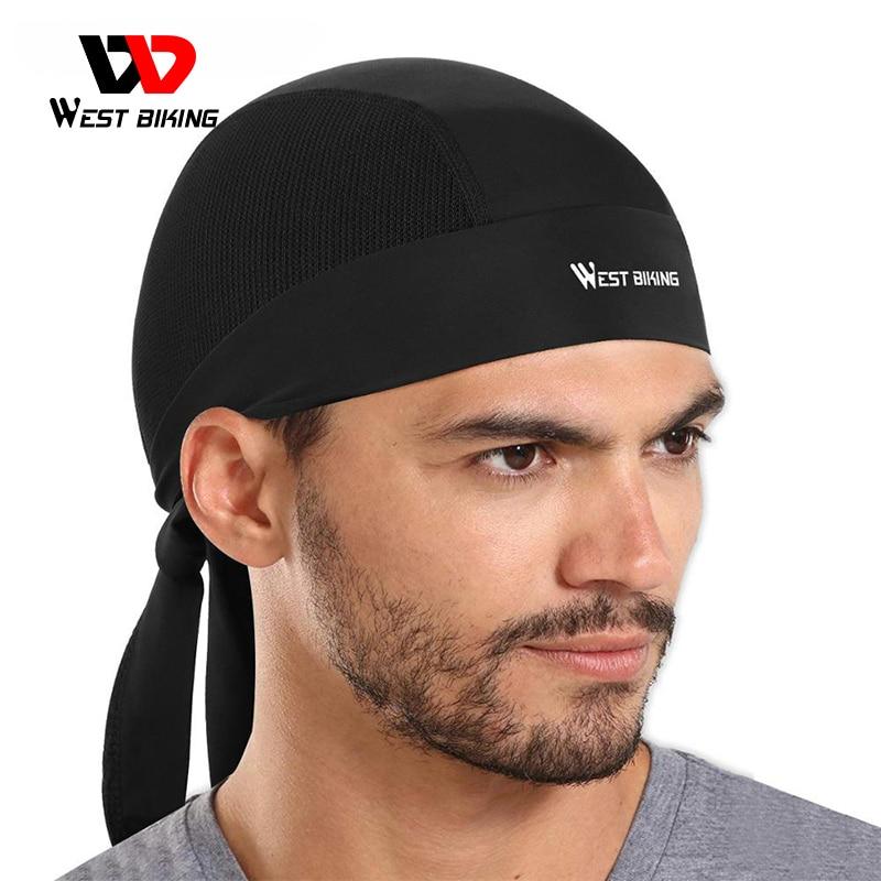Летняя велосипедная шапка WEST BIKING, Быстросохнущий дышащий головной платок, бандана, Спортивная, для бега, защита от УФ-лучей, аксессуары для в...