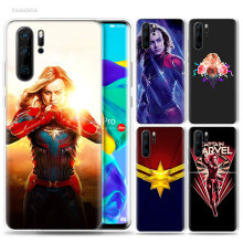 Captain Marvel Case for Huawei P20 P30 P Smart Z Plus 2019 P10 P9 P8 Mate 30 10 20 Lite Pro Silicone Sac Phone Coque Cover Bags(China)
