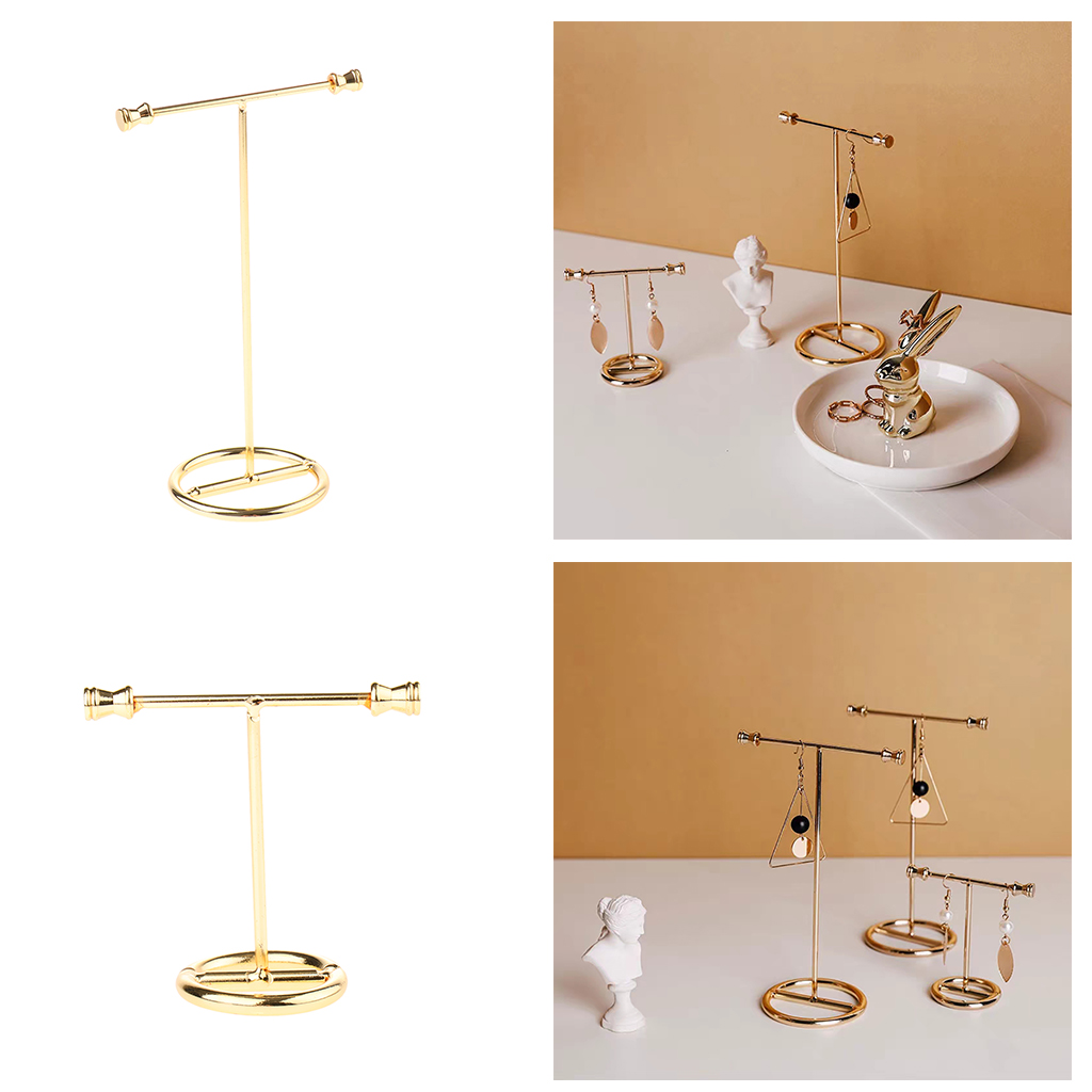 Gold Earring Rack Jewelry Organizer Holder Display Stand Jewelry Display Stand Showing Rack For Earrings Necklaces Bracelets