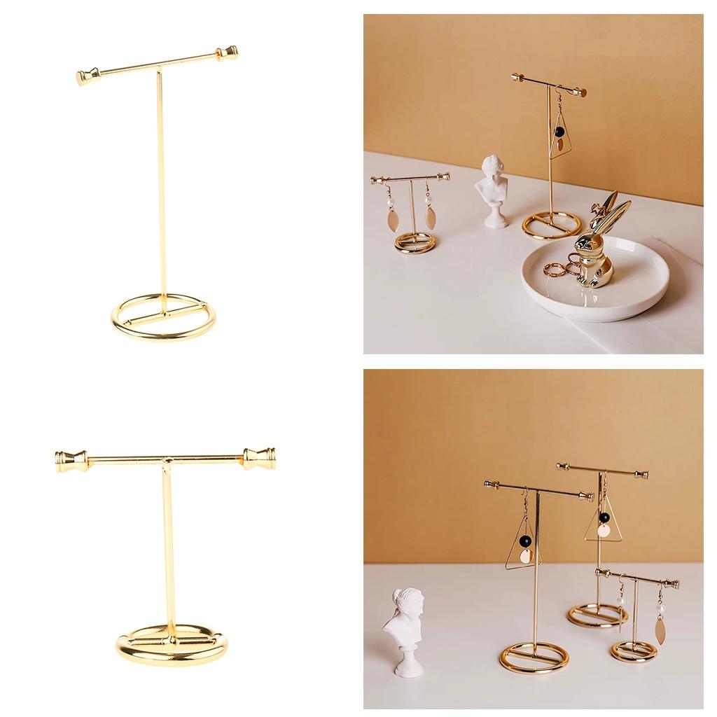 Gold Earring Rack Jewelry Organizer Holder Display Stand Jewelry Display Stand Showing Rack For Earrings Necklaces Bracelets