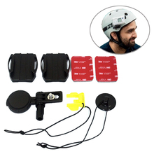 Supporto laterale per casco VCT HSM1for Sony HDR AS50 AS30 AS20 AS15 AS10 AS300 AS200 AS100 AZ1 X3000 FDR X1000 fibbia adesiva