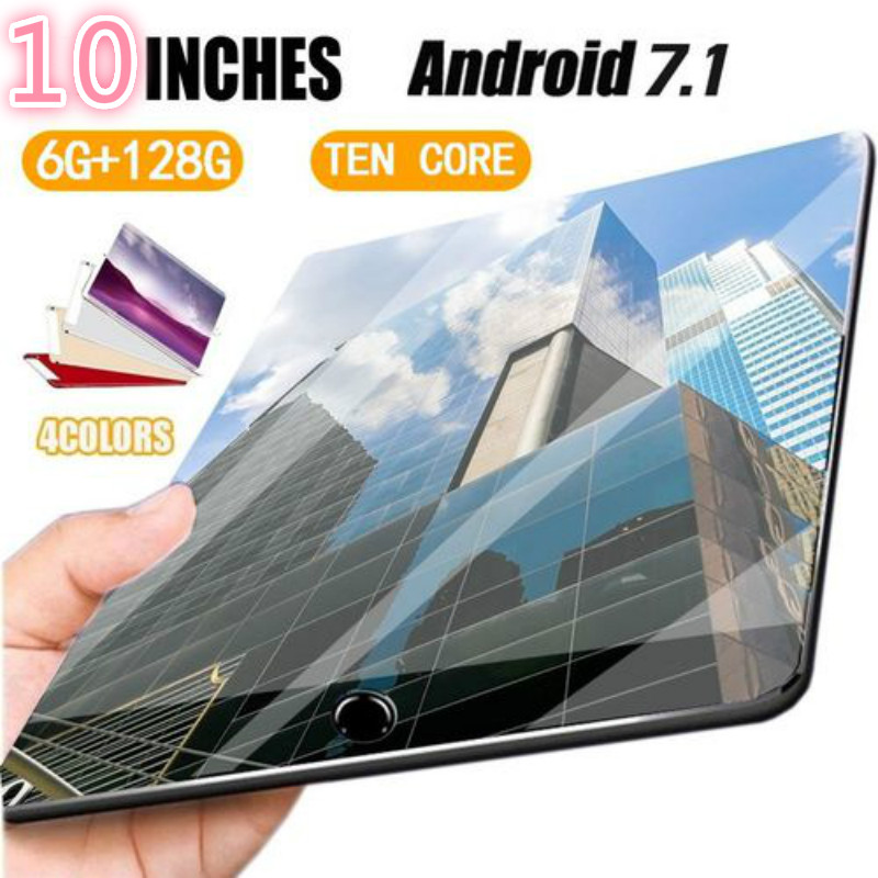 10 Inch Tablet Pc Android 7.0 10 Core 1280*800 IPS Screen 6GB 168GB WiFi GPS Bluetooth 4G Phone Call Dual SIM 10.1 Inch Tablets