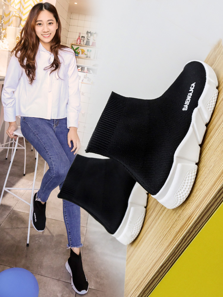 Spring Socks And Shoes Women Autumn Knitting High Top Sports 2019 New Harajuku Versatile Womens Shoes