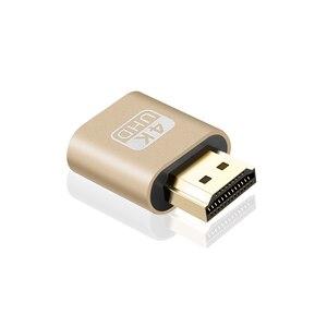 Image 2 - Kebidu מיני VGA וירטואלי תצוגת מתאם HDMI DDC EDID Dummy תקע בלי ראש Ghost תצוגת אמולטור מנעול צלחת 1920x1080 @ 60Hz