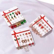 Рождественский набор серьги в виде Санта Клауса масляные подвески
