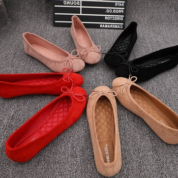 Fashion 2020 Bowtie Women Flats Ballet Shoes Round Toe Slip On Loafers Ladies Ballerina Flats Large Size Shallow Shoes Woman 2017 summer spring women ballet flats round toe slip on shoes woman flower bowknot loafers vintage zapatos mujer canvas