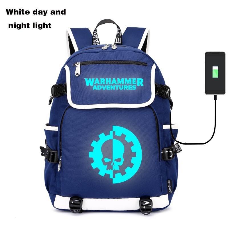 Warhammer Warhammer Hot Selling Bags USB Night Light School Bag Hair School Bag