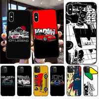 HPCHCJHM Cool Japan JDM Sports Car Comic Cover Black Soft Phone Case for iPhone 11 pro XS MAX 8 7 6 6S Plus X 5S SE 2020 XR case