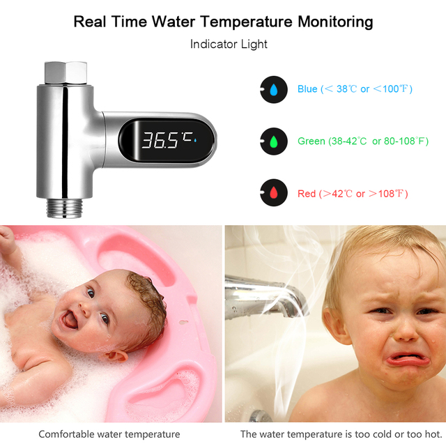 Wasser Thermometer mit LED Display 5