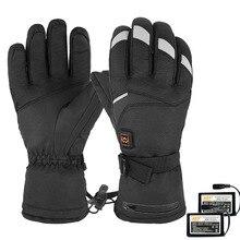 1 пара зимних перчаток, теплые перчатки с электрическим подогревом, 5 скоростей, контроль температуры рук, теплые перчатки для мотоцикла, катания на лыжах, велоспорта