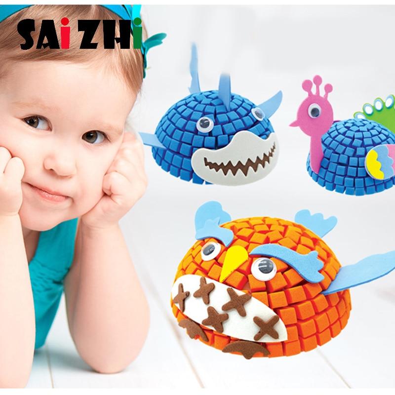 Saizhi 3D EVA Foam Sticker Puzzle Game DIY Cartoon Animal Learning Education Toys For Children Kids