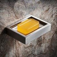 304 נירוסטה סבון מקרה מחזיק קרמיקה סבון מיכל אנטי חלודה ניקוז מגש סבון תיבת לאמבטיה מטבח שימוש|מדפי אחסון|בית וגן -