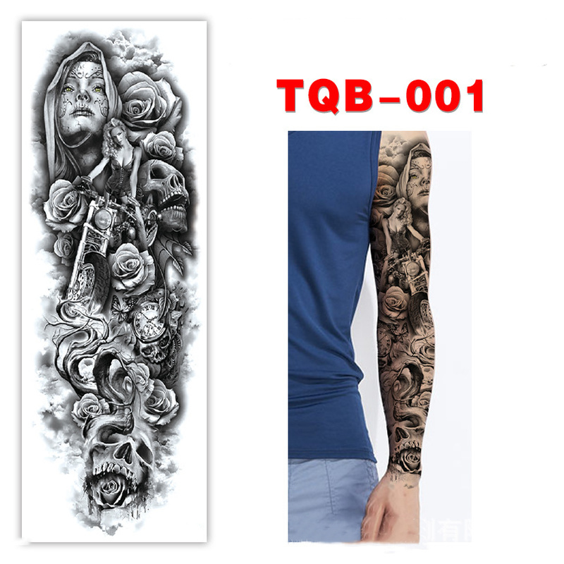 Waterproof Temporary Tattoo Sticker Tribal Totem Band Fake Water Transfer Tatto Personality Tatoo Arm Foot Tato For Women Men