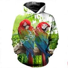 Tessffel animal parrot New Fashion Harajuku casual cartoon 3D Printed Hoodie/Sweatshirt/Jacket/shirts Mens Womens funny style-2