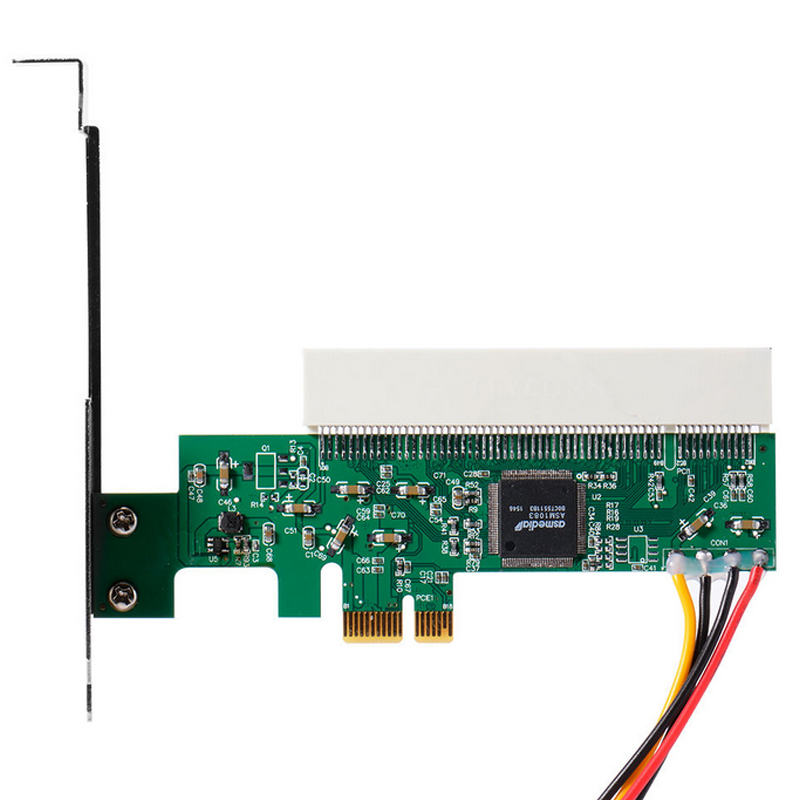 New PCI Express PCI-E to PCI Adapter Card Asmedia <font><b>1083</b></font> Chipset Green AC385 VH99 image
