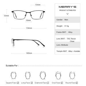 Image 4 - MERRYS DESIGN Men Luxury Titanium Alloy Optics Glasses Male Ultralight Eye Myopia Hyperopia Prescription Eyeglasses S2041