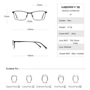 Image 4 - MERRYS デザイン男性高級チタン合金光学メガネ男性超軽量目近視遠視処方眼鏡 S2041