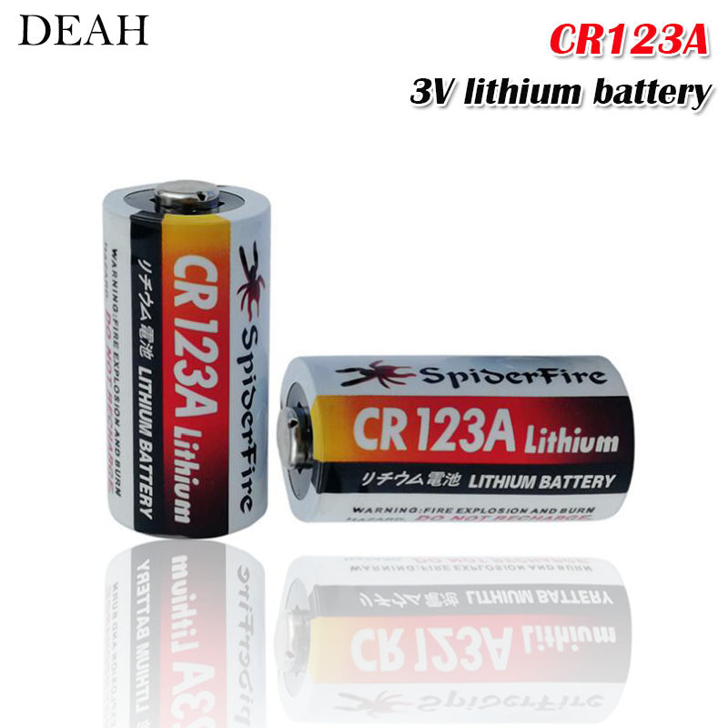 2pcs Lithium battery CR123 CR 123A CR17345 16340 cr123a 3v Non-rechargeable Batteries for Camera Gas meter primary dry battery