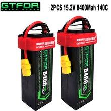 Dxf lipo bateria 4S 8000mah 8400 v 15.2v hv 14.8v 110c 220c 140c 280c hardcase para 1/8 1/10 escala rc buggy carro rastreador truggy
