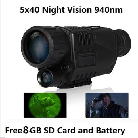 5x40 digital infravermelho night vision goggle escopo para