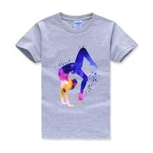 Детская футболка для занятий гимнастикой и акварелью; детская спортивная футболка на заказ