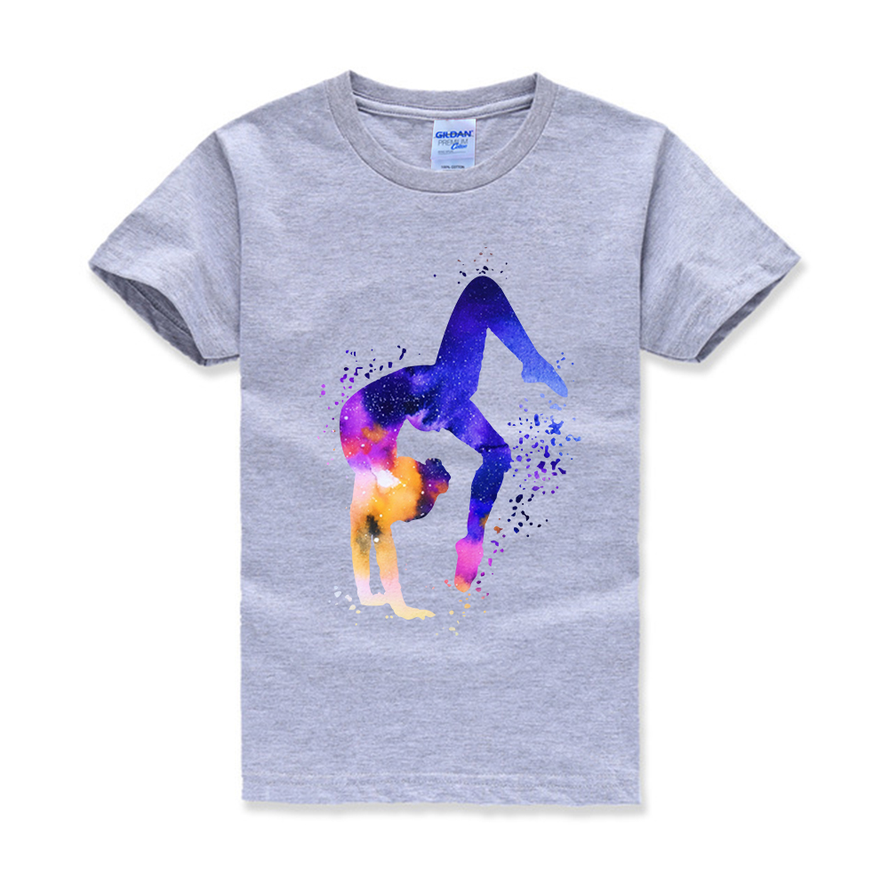 Gymnastics Tumbling Watercolor Kids T-shirt Sports   Children  Personalized   Custom