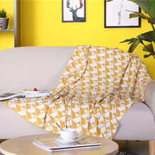 Modern Geometric Throw Blanket High Quality Pure Cotton Knitting Siesta Sofa Blanket Soft Bed Cover Home Decor Shawl Blanket цена 2017
