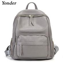 Yonder Fashion Soft Genuine Leather Women Backpack High Qual