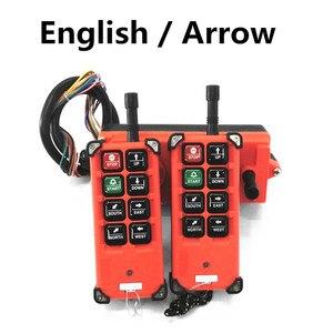 Image 2 - Kostenloser Versand Industrial Wireless Radio Fernbedienung F21 E1B 8 Kanal Tasten Switchs für Uting Hoist Kran