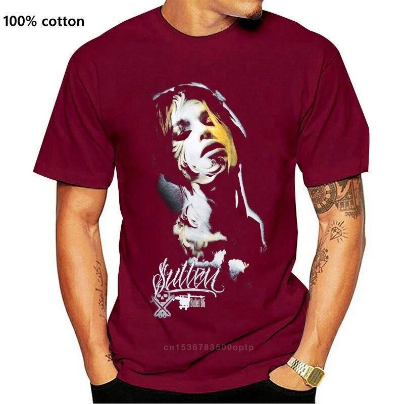Одежда Sullen Grace Black Tattoo Goth Bullet 2018 Новая модная мужская футболка из чистого хлопка с короткими рукавами в стиле хип-хоп
