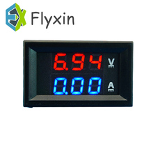 цена на DC 0-100V 10A Digital Voltage Ammeter Dual Display voltmeter Detector Current Meter Panel Amp Volt Gauge 0.28 Red Blue LED