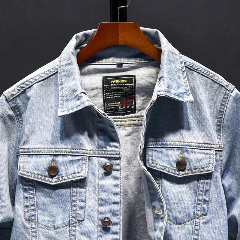 AKSR 男性ジャケットジーンズジャケット男性ストリートハンサムカジュアルジャケット中国風のジャケット