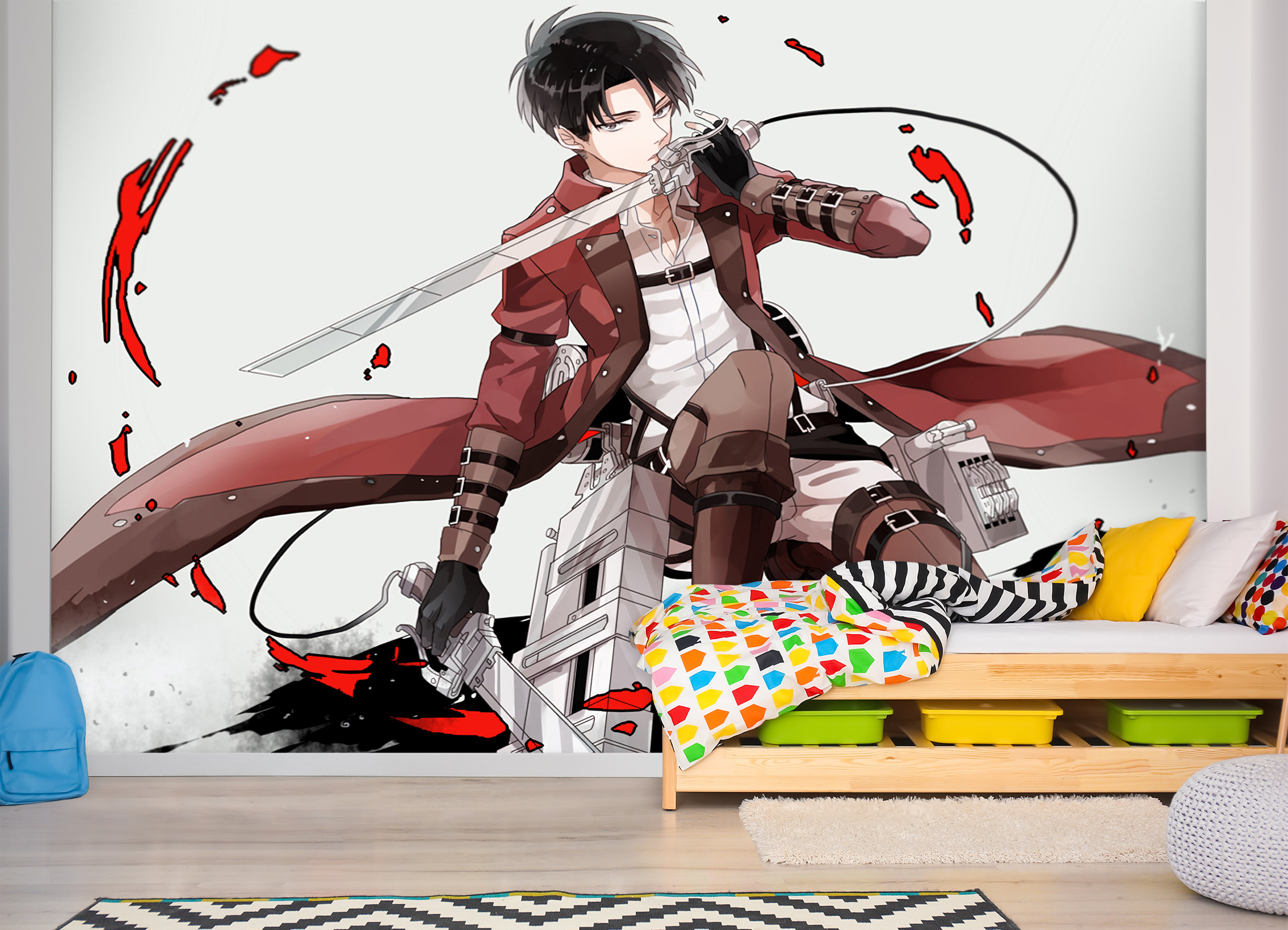 Details about  /3D Attack On Titan 308RAID Anime Combine Wall Sticker Wall Murals Wallpaper Amy