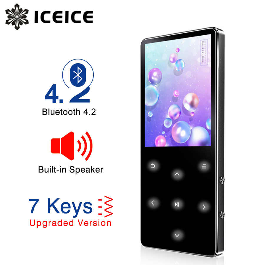 ICEICE MP3 Player Bluetooth hifi lossless mini music player with fm radio speaker headphones, sport MP 3 portable metal walkman