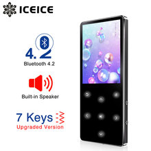 ICEICE MP3 Player Bluetooth hifi lossless mini music player with fm radio speaker headphones, sport MP 3 portable metal walkman(China)