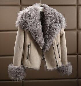 Image 5 - OFTBUY 2020 เสื้อแจ็คเก็ตสตรีฤดูหนาวจริงคู่เสื้อขนสัตว์ธรรมชาติมองโกเลียแกะขนสัตว์ Parka BIKER Streetwear VINTAGE แฟชั่น