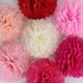 5 шт., 10 см, 20 см, 30 см, бумажные помпоны, Цветочные шары для свадебного декора, вечерние принадлежности для дня рождения, бумажные помпоны, дом...