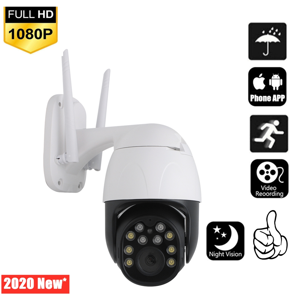 HD1080P Wifi IP Camera Outdoor PTZ Wireless Camera Speed ​​Dome CCTV Surveillance Night Vision Motion Detection Baby Monitor