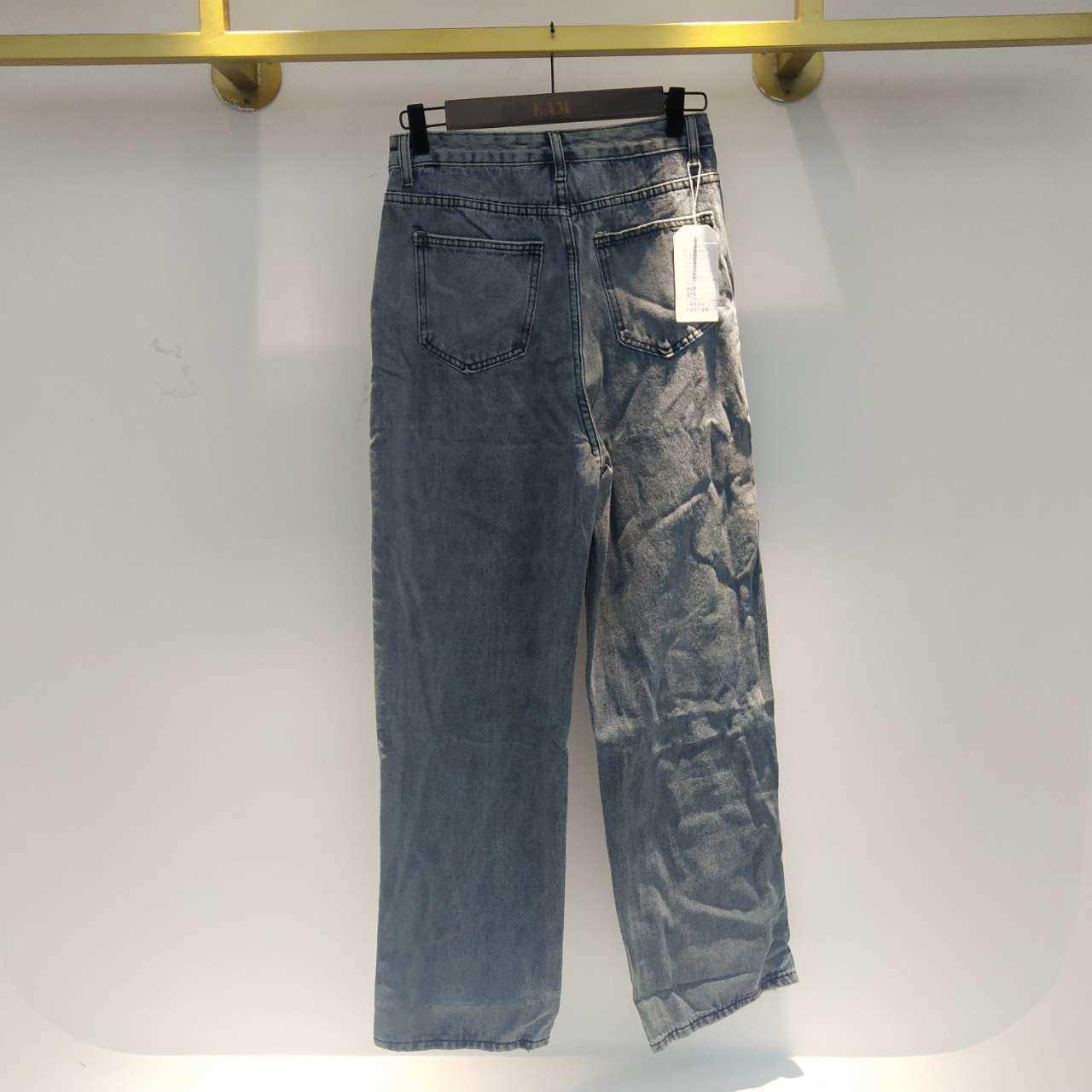 SHENGPALAE 2021 New Summer Vintage Jeans Woman Long Trousers Cowboy Female Loose Streetwear Butterfly Print Pants ZA4110