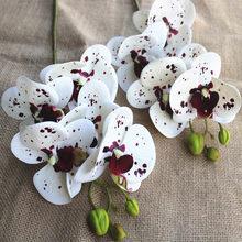 Искусственные пластиковые цветы, Орхидея, искусственная бабочка, бабочка