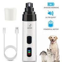 Elektrische Hund Nagel Knipser für Hund Nagel Mühlen Wiederaufladbare USB Lade Pet Ruhig Katze Pfoten Nagel Pflege Trimmer Werkzeuge
